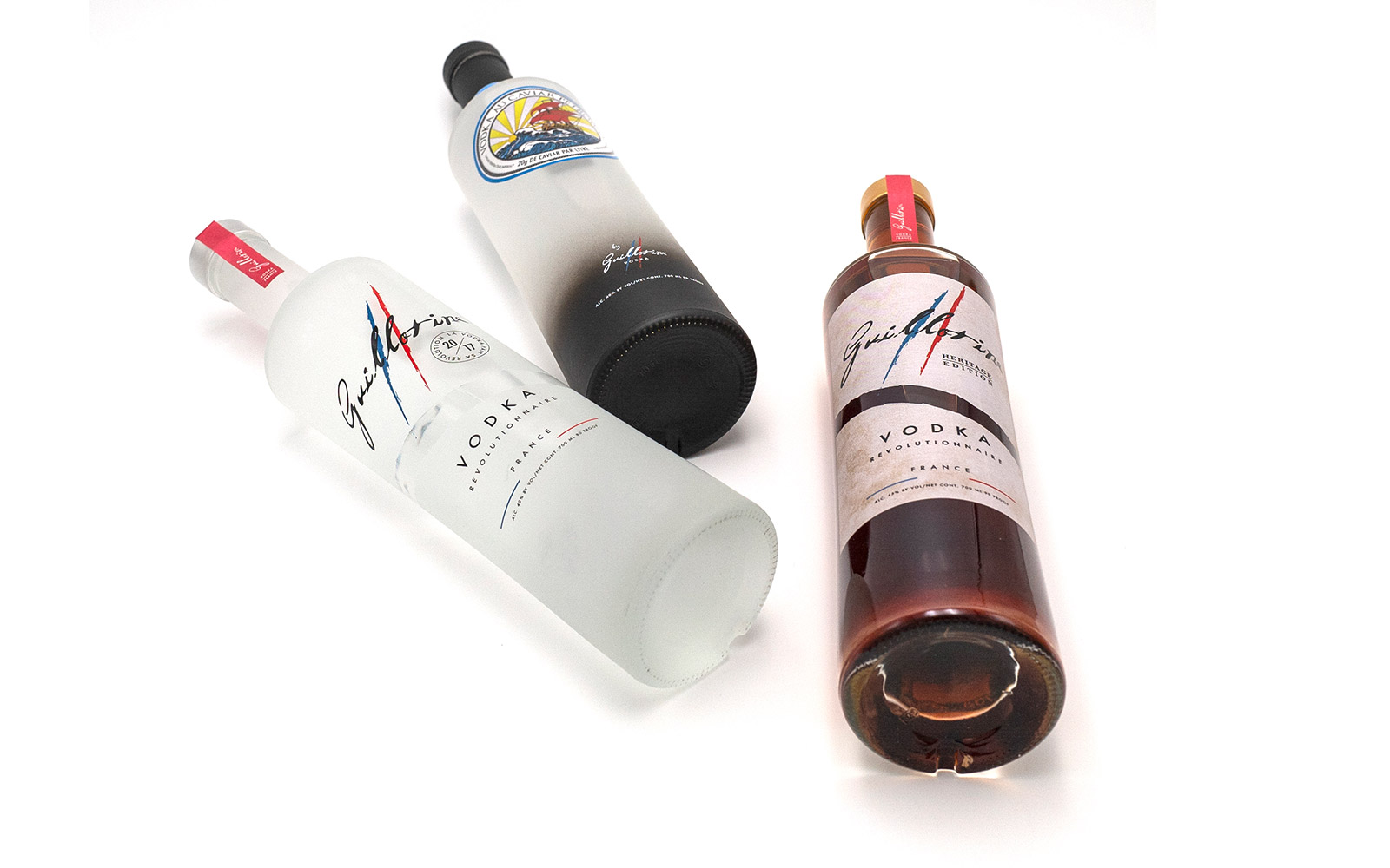 les trois vodkas Guillotine
